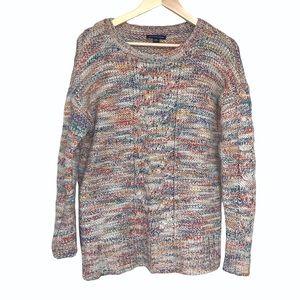 American Eagle Rainbow Multicolored Chunky Sweater